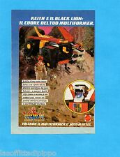 TOP986-PUBBLICITA'/ADVERTISING-1986- MATTEL - VOLTRON - KEITH E IL BLACK LION