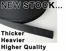 25mm /  2.5cm / 1 inch webbing Strapping.  1 - 50 METRE Lengths