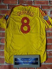 Raro Gerrard 8 Liga de Campeones 2007 Liverpool Lejos Camiseta De Fútbol De Tamaño Grande