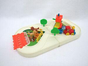Vtg Tomy Wind Up Train Miniature Playset