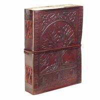 Large Diary Leather RecycleTree Life Pegan Celtic Embossed Notebook Journal