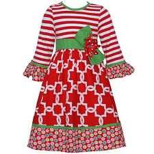 Counting Daisies Little Girls Red Green Christmas Dress Size 5 Holiday Boutique