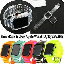 Reloj Banda Correa TPU Silicona Transparente para Apple Watch Serie 6/5/4/3/2/1 iWatch se