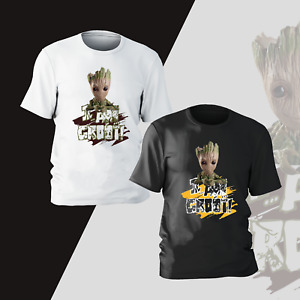 I Am Groot T-Shirt Mens Kids Comedy Marvel Inspired Funny Gift Present Tee