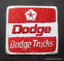 """DODGE TRUCKS EMBROIDERED SEW ON PATCH LOGO UNIFORM ADVERTISING 2 3/4"""" x 2 1/2"""""""
