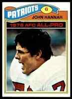 1977 Topps #460 John Hannah HOF NRMT New England Patriots / Alabama