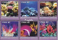 Mosambik 2608-2613 postfris MNH 2002 Wereld van Marine