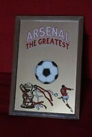 ARSENAL FC Vintage 'The Greatest' FRAMED MIRROR 1980's 32cm x 22.5cm FA Cup