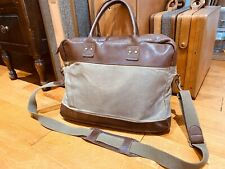 JCrew BillyKirk Padded Canvas and Leather Briefcase / Messenger Laptop Bag $374