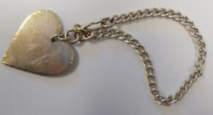 Antique 1890 Sterling Silver Heart Chain Bracelet 21.704 Grams Heilig Signed