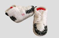 Crochet Baby Sneaker J Basketball Retro White Black Jordan 3 Cement Shoes