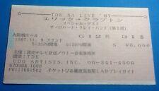 Eric Clapton Original Genuine Used Concert Ticket Castle Hall Osaka 1987 Cream