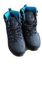 GELERT Horizon Mid Waterproof Walking Boots Grey/Blue Size UK 6 Us 7Y *REFCRS126
