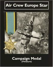 Air Crew Europe Star -  Campaign Medal - Miniature Reproduction