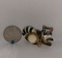 Funny Raccoon Bone China Mini Miniature Dollhouse Shadow Box Figurine Animal