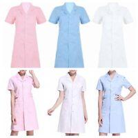 Women's Hospital Nurse Scrub Dress Hospital Lab Coat Uniform Cosplay Costumes