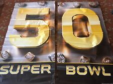 2 - SUPER BOWL 50 LEVI STADIUM BANNER 2 SIDED HEAVY DUTY 6'X3' WEATHERPROOF