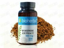 YOHIMBIN 480 MG X 100Caps. Yohimbe Extract  - Mens Sexual Health,Fat Burning