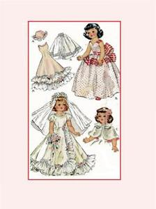 """PATTERN 1646 for 14"""" Toni Sweet Sue Harriet Hubbard Ayers by Ideal Doll Clothes"""