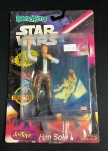 Star Wars Han Solo Bend Ems with Trading Card