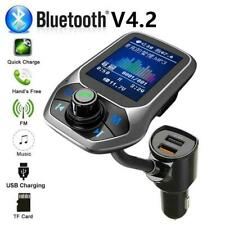 USB Charger Bluetooth Car FM Transmitter MP3 Player Hands Radio Adapter Kit N1F2
