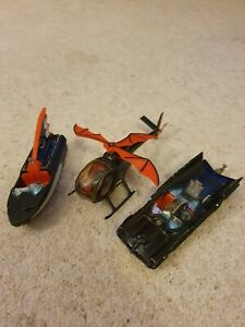 Corgi batmobile Bat-copter and Boat