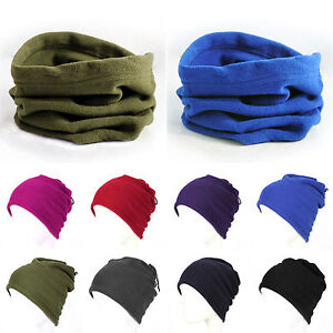 Unisex Fleece Snood Scarf Ski Balaclava Winter Neck Warmers Face Mask Beanie Hat