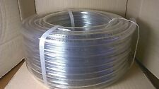 "100' L x 1/2"" ID x 5/8"" OD Clear Flexible Vinyl PVC Tubing Hose Food Grade New"