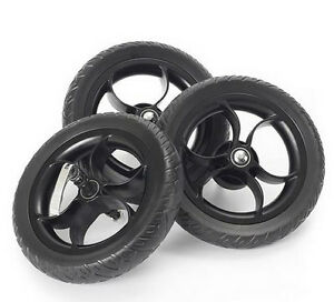 New Out n about nipper eva wheel set of 3 black for v2 v3 & v4 single & double