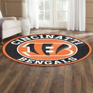 Cincinnati Bengals Fluffy Area Rug Round Rug Bathroom Floor Mat Bedroom Door Mat