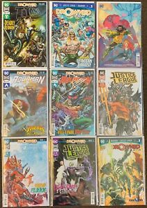 Drowned Earth prelude #1,1,41,42,10,11,12,1 Titans Aquaman Justice League DC lot