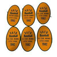 Vandenberg Air Force Base Little League Baseball Patches 1982 Asst Lot Of Six 6