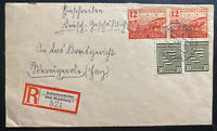 1946 Dahlenwarsleben Germany Provisional Occupation Stamps Postwar Cover