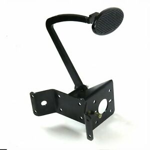 35-40 Ford w/o X-Member Brake Pedal Bracket Kit with Lg Oval Blk Pedal Pad