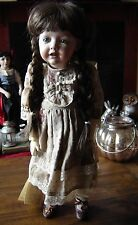 "Alma & Elio AR Reproduction Hilda doll. Bisque head, composition body. 18"" tall."