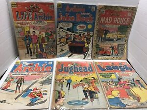 Lot Of 6 ARCHIE Series Comic Book Jughead Mad House Laugh Life Archie Joke Book