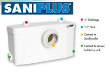 Saniflo SANIPLUS 002 Macerator Pump for Full Bathroom, White