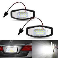 2pcs Bright White 18 LED License Plate Light Lamp For Honda Accord Civic Legend