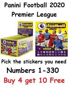 "Panini Football 2020 *RESTOCKED"" Premier League Stickers. Pick what u need 1-330"