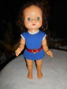 "12"" transitional hard plastic/hard vinyl vintage doll. possibly pedigree/palitoy"