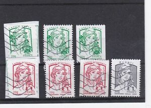 FRANCE 2013 7 TIMBRES MARIANNE JEUNESSE OBLITERE