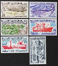 Z383 FSAT TAAF Fr. Southern Antarctic 1977 #69-71, 73-75 Science Exped. Mint NH