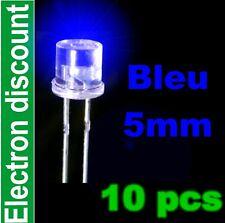 461/10# LED 5mm Bleu cylindrique 10 pcs -- 1000mcd