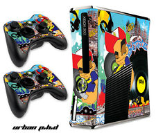 Skin Decal Wrap for Xbox 360 Slim Gaming Console & Controller Xbox360 Slim PHD