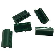 5 NEW LEGO Brick, Modified 2 x 4 x 1 1/3 with Curved Top Dark Green