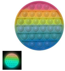 Glow In The Dark Push Bubbles Sensory Pop It Fidget Replace Mobile Phone & Sleep