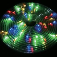 50 LED Solar Powered 5m Rope Light Multi Outdoor Strip Party Lights Xmas Garden