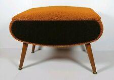 Retro Orange Brown Vintage Atomic Sputnik Ottoman Sewing Box Footstool Storage