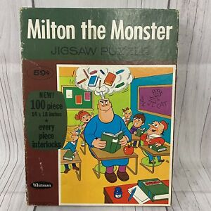 Vintage 1967 Milton The Monster Hal Seeger Whitman Cartoon Puzzle 100pc Complete