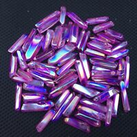 TITANIUM RAINBOW AURA LEMURIAN SEED QUARTZ crystal POINT wand 50g